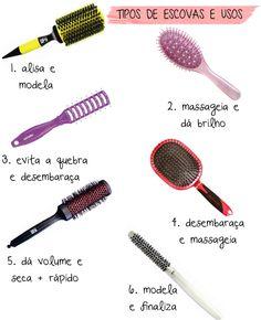The hair brush guide - http://www.lecamanfrin.com.br/guia-de-escovas-de-cabelo/