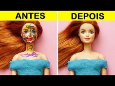 CRAFTS No one is ever too old for dolls! So I highly recommend you to watch these Barbie doll hacks! Find out how to make your Barbie doll the quee Barbie Hair, Barbie Clothes, Barbie Dolls, Amanda Jones, Sewing Toys, Womens Purses, Hacks Diy, Play Doh, 5 Minute Crafts