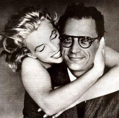Marilyn Monroe & Arthur Miller - photo by Richard Avedon