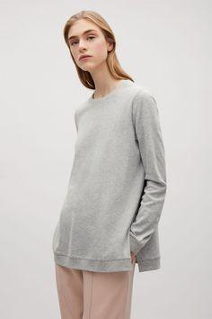 COS | Sweatshirt with rib shoulders