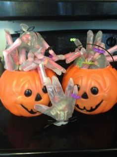 Halloween treat: This is what I brought to Maggie's field hockey game.