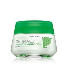 Creme de Noite Optimals Oxygen Boost para Pele OleosaCreme de noite leve e hidratante com a tecnologia antioxidante patenteada Lingon 50:50™ que protege a pele dos agressores ambientais, e O² Active para uma pele mais fresca e saudável. Específico para a pele oleosa. Aplique todas as noites. 50  ml. Código:25199  www.orisandramiranda.com