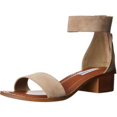 Steve Madden Women's DARCIE Heeled Sandal (3.560 RUB) ❤ liked on Polyvore featuring shoes, sandals, wide fit sandals, wide heel sandals, steve madden, steve-madden shoes and wide shoes