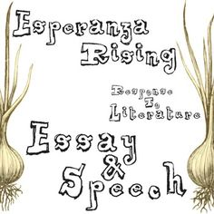 ESPERANZA RISING Essay Topics & Grading RubricsTEXT: Esperanza Rising by Pam Munoz RyanGRADE LEVEL: 5th-10thCOMMON CORE: CCSS.ELA-Literacy.RL.1, CCSS.ELA-Literacy.W.1Coming soon, this resource will be part of ESPERANZA RISING Unit Teaching Package bundle.Students are given 3 Response to Literature topics about Esperanza Rising:> Starting Over> Esperanza & Maturity> American & OpportunityThey can then choose to write an essay or deliver a speech on their ideas from Esperan...