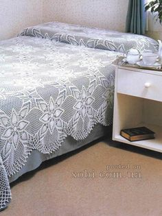 Crochet pineapple bedspread ♥LCB-MRS♥ with diagram.