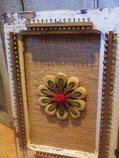 Hand Made Repurposed Piano Art flower in Antique