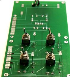 Turn out HO switch direction control LED and switch side