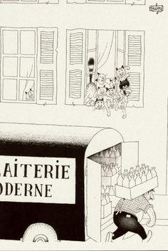 Albert Dubout 'Les chats' 17