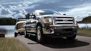The F-150 can tow a heavier trailer (11,300 lbs.) and haul more cargo (3,120 lbs) than any of its competitors.*