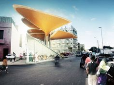 TomDavid Architecten Unveils Rainwater Harvesting Leaf Pavilio...