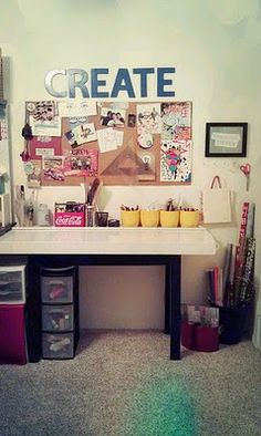 Bah! Love this...organized art studio :)