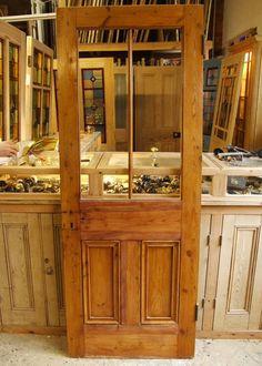 Reclaimed Pine Victorian Internal Door Dimensions: x 1980 mm x (Availability SOLD ) Victorian Internal Doors, Internal Glazed Doors, Victorian Front Doors, Porch Doors, Front Doors With Windows, Room Doors, Stained Glass Door, Sliding Glass Door, Glass Doors