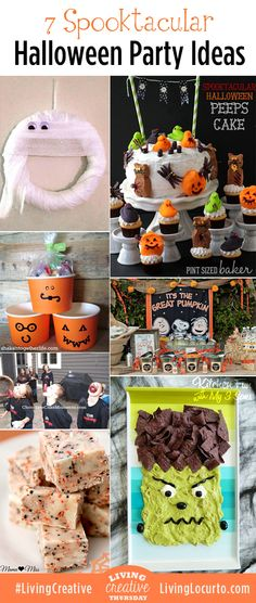 7 Spooktacular Halloween Party Ideas! Featured from Living Creative Thursday at LivingLocurto.com