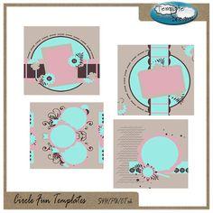 Circle Fun Digital Scrapbooking Templates by TemplateDreamsCo