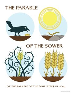 Last Sunday I was thinking about the parable of the sower, and started doing some sketches, which then led to my finished illustration. Sunday School Activities, Sunday School Lessons, Sunday School Crafts, Lego Activities, School Kids, School Stuff, Bible Lessons For Kids, Bible For Kids, Scripture Study