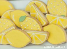 Lemonade Stand Party with DIY Lemonade Stand Kits – Giggles Galore - Kekse Ideen Lemon Cookies, Iced Cookies, Cute Cookies, Pink Lemonade Party, Lemon Party, Smoothie, Shaped Cookie, Mellow Yellow, Cookie Decorating