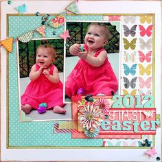 #papercraft #scrapbook #layout Envisages: Starting Point Layout + 1 More