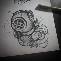 escafandro espacial tatuagem - Pesquisa Google