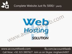 Account4WEB || Web Hosting in Pakistan.: Website Packages Starts From 5000/- || Account4WEB...