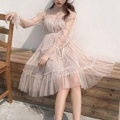 Dress Outfits, Fashion Dresses, Dress Up, Cute Outfits, Cute Fashion, Girl Fashion, Fashion Design, Ulzzang Fashion, Korean Fashion