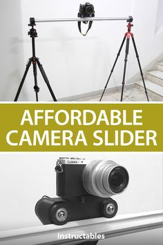 AdrienR created this camera slider to be affordable and make it easier to add effects to videos or make moving time lapses. #Instructables #photography #controller #workshop #electronics Camera Slider, Photography Projects, Sliders, Sketching, Workshop, Engineering, Creativity, Marketing, Electronics