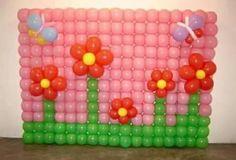 Mural con flores