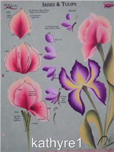 donna dewberry rtg | Donna Dewberry RTG Irises Tulip One Stroke Worksheet | eBay