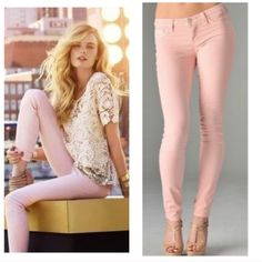 Blush Pink Skinny Jean Jegging Size Small So pretty for Spring!!  Blush pink skinny jean Jeggings, 5 pockets, belt loops, button and fly zipper, 68% Cotton/27% Polyester/5% Spandex.  Size Small.  No Trades, Price Firm unless Bundled.  BUNDLE 3 OR MORE ITEMS FOR 15 % OFF. Boutique Pants Leggings