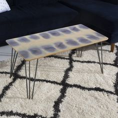Amy Sia Smudge Purple Coffee Table   DENY Designs Home Accessories