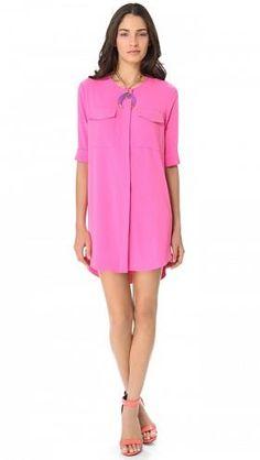 Exile Shirt Dress # #Hot-Pink