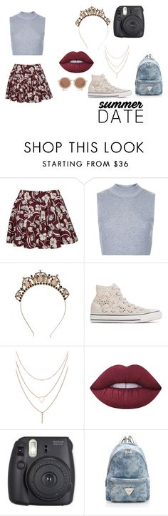 """""""Untitled #293"""" by dreamarie151 on Polyvore featuring Pull&Bear, Topshop, Converse, Lime Crime and House of Holland"""