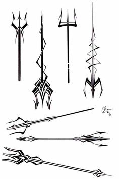 first try at designing tattoos. its for a competition---->[link] trident tattoos Body Art Tattoos, New Tattoos, Small Tattoos, Sleeve Tattoos, Tattoos For Guys, Tatoos, Poseidon Tattoo, Poseidon Trident, Trident Tattoo