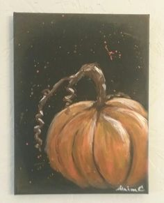 Fall pumpkin painting by ali c