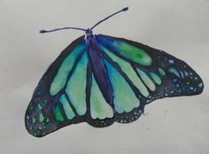 Nature wet on wet isolation watercolor Wet On Wet Painting, Butterfly Painting, Art Work, Watercolour, Art For Kids, Art Projects, Collage, Student, Nature