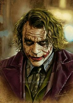 The Dark Knight - Heath Ledger - The Joker Der Joker, Joker Heath, Joker Art, Joker Batman, Heath Ledger Joker Pics, Heath Ledger Joker Wallpaper, Joker Cartoon, Gotham Joker, Joker Comic