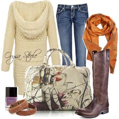 Burnt Orange fall outfit