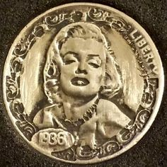 BEN PROCTOR HOBO NICKEL - MARILYN MONROE - 1936 BUFFALO NICKEL