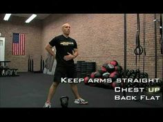 """LaLanne Fitness - Powered by CrossFit """"Kettle Bell Swing"""" - YouTube *starts at 26 secs"""