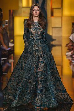 Elie Saab Fall 2015 Couture Fashion Show - Maartje Verhoef