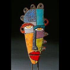 Fröken Eaton & # s Phileonia Artonian: Kimmy Cantrell inspirerade masker. Metal Art, Wood Art, Kimmy Cantrell, Art Altéré, Art Visage, Ceramic Mask, Cardboard Art, Masks Art, Clay Masks