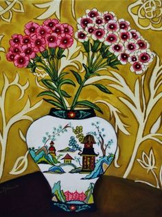 Sweet William, painting by artist Catherine Nolin