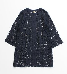 ambidex-store.jp 【KARINE】麻カットワークノーカラーコート