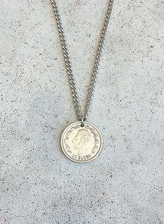 NECKLACE Vintage RARE ECUADOR Ornate Foreign coin by bleustuff1, $6.99
