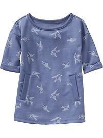 Patterned Fleece Dress for Baby