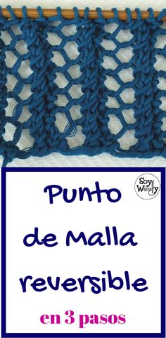 Punto de Malla muy fácil reversible o doble faz en dos agujas - Knitting Help, Knitting Videos, Knitting Stitches, Knitting Projects, Knitting Patterns, Tunisian Crochet, Knit Crochet, Crochet Hats, Hairpin Lace
