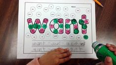 Sight Word Activities with Daubers! Perfect hands-on activity for literacy centers or word work!