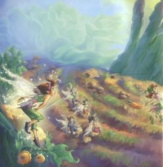 Harvest-talent fairies are responsible for harvesting food for the fairies of Pixie Hollow. Old Disney, Disney Art, Disney Pixar, Tinkerbell Movies, Tinkerbell And Friends, Hades Disney, Fairy Dust, Fairy Tales, Disney Faries