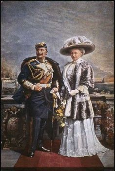 Kaiser Wilhelm II and Kaiserin Augusta Viktoria Wilhelm Ii, Kaiser Wilhelm, European History, American History, German Royal Family, Germany And Prussia, Queen Victoria Prince Albert, King Of Prussia, Second Empire