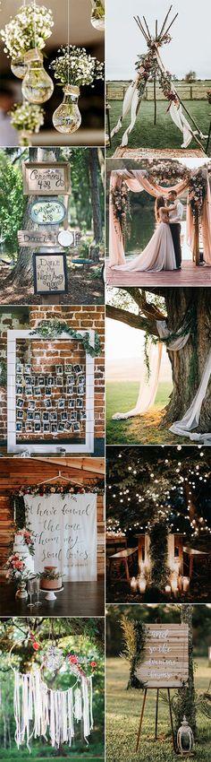 boho chic wedding decoration ideas for 2018