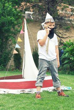 cardboard-paper mached boat